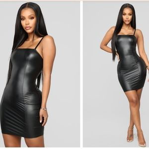 Fashion Nova Slick to the Game PU Mini Dress